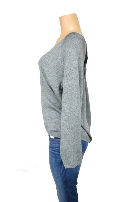 Ellen Tracy Gray Sold Out V-neck Sweater