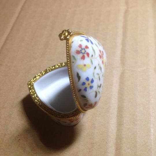 Multicolor Bogo Porcelain Heart Shaped Jewelry Ring Box Free Shipping
