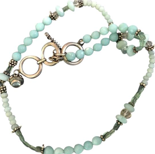 Preload https://img-static.tradesy.com/item/20731266/bluegreen-artist-beaded-chalcedony-and-silver-necklace-0-2-540-540.jpg