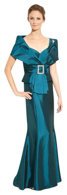 Preload https://img-static.tradesy.com/item/20731282/daymor-couture-teal-taffeta-jacket-with-trumpet-skirt-long-formal-dress-size-6-s-0-1-650-650.jpg