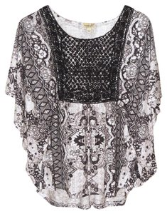 One World Batwing Dolman Sparkle Bling Sweater