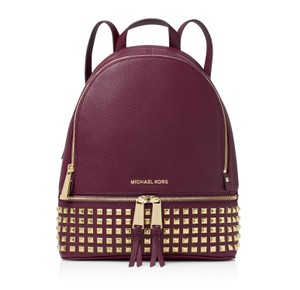 Michael Kors Rhea Studded Leather Backpack