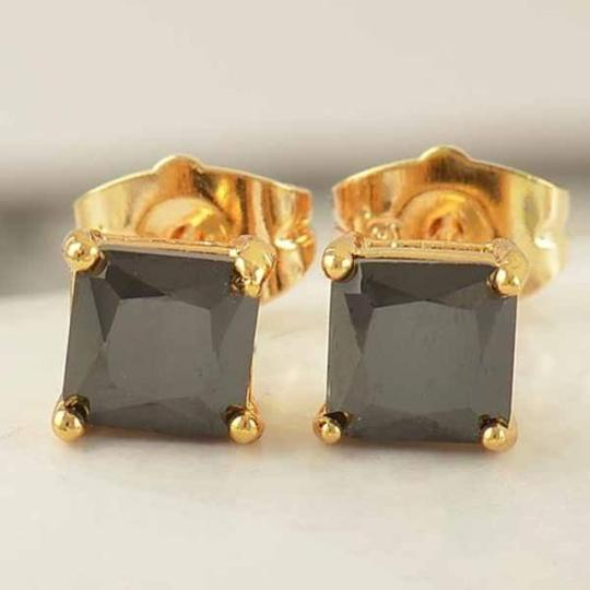 Gold/Black Bogo 9k Filled Zircon Unisex Stud Free Shipping Earrings