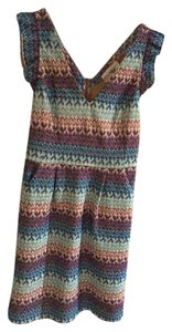 Anthropologie Work Wear Office Casual Easter Crochet Ruffle Dress