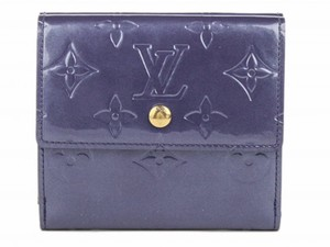 Louis Vuitton LOUIS VUITTON Blue Elise Trifold Monogram Vernis Wallet