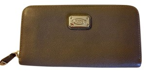 Tod's Tod's Mini D Zip Around Gray Continental Wallet