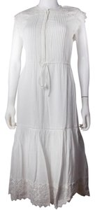 White Maxi Dress by Rebecca Taylor Embroidered Lace Summer Sleeveless Tiered
