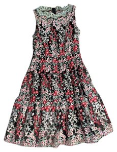 HD in Paris Anthropologie Embroidered 0 Dress