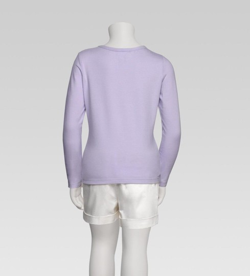 Gucci Lilac Kids Long Sleeve Top T-shirt W/Butterfly Embroidery 5 258571 Groomsman Gift