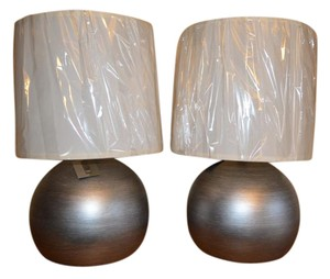 Trend Lighting Latitude Table Lamp, Hand Painted Weathered Pewter