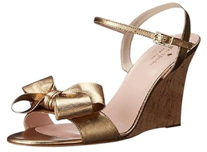 Kate Spade Antique Gold Wedges