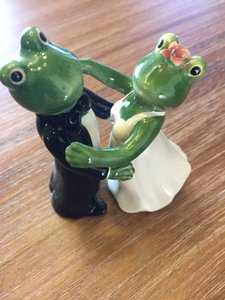 Perfect Condition Frog Wedding Salt N' Pepper