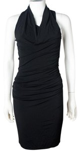 Helmut Lang Cowl Sleeveless Ruched Nwt Dress