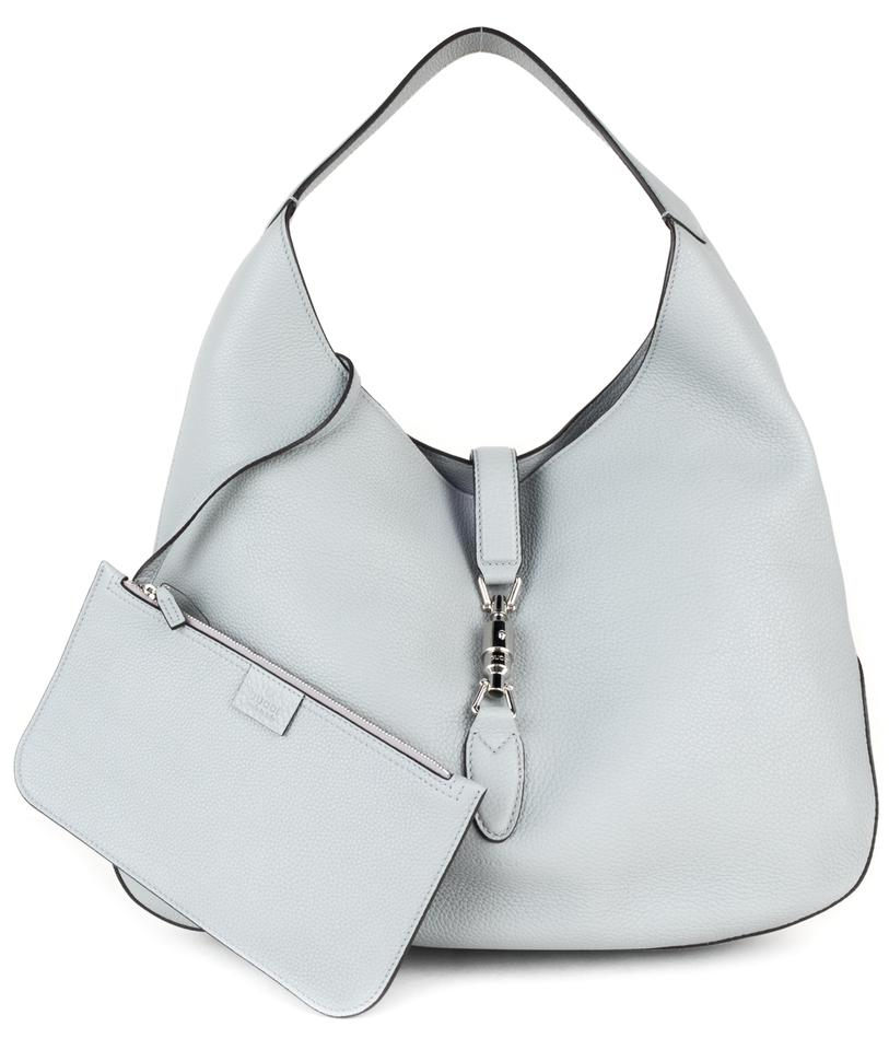 1aaa4fbd6e045 Gucci Jackie In Soft Cool Grained Grey Leather Hobo Bag - Tradesy