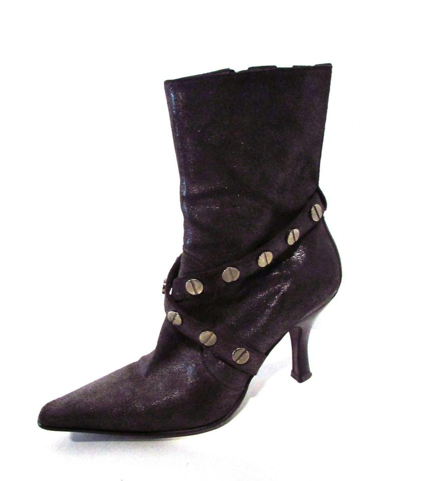 9493881a2c9 Donald pliner charcoal mignon metallic leather pointed toe ankle jpg  840x960 Donald pliner boot sale