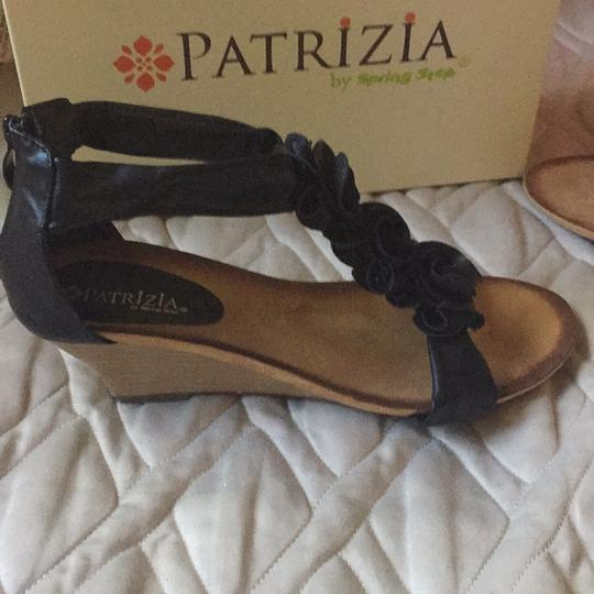 Patrizia by Spring Step Black leather Sandals