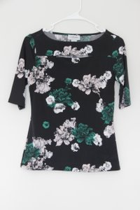 Carmen Marc Valvo Top Black/pink/white
