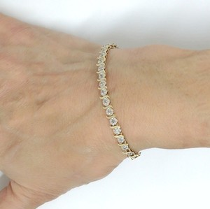 DeWitt's Diamond Tennis Bracelet 14 Karat Gold
