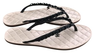 Chanel black and nude pink Sandals