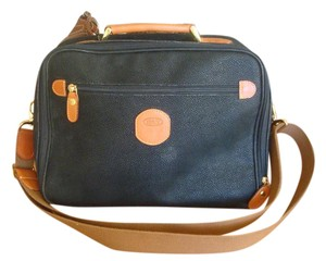 Bric's New Travel Attache Briefcase Leather Satchel in Navy