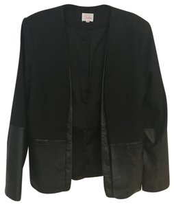 Parker Leather Black Blazer