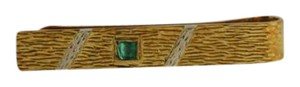Other Vintage Mens Tie Clip Bar- 18k Yellow Gold