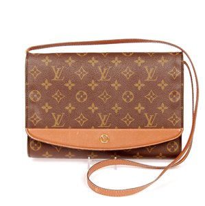 Louis Vuitton Canvas Clutch Bordeaux Cross Body Bag