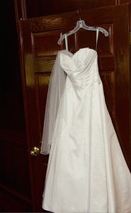 Alfred Angelo Cross-draped Bodice Signature Bridal Gown/style 2409 Wedding Dress