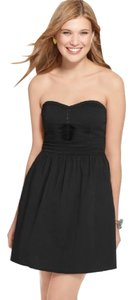 BeBop short dress Black Strapless Sweetheart Pleated A-line Lbd on Tradesy