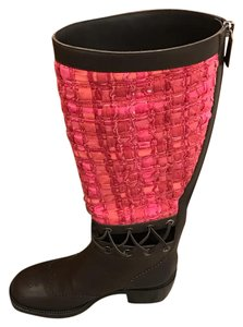 Chanel pink brown Boots