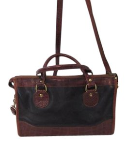 Brahmin Satchel in Black and Brown