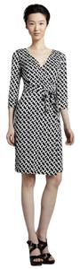 Diane von Furstenberg short dress Black and White Silk Wrap on Tradesy