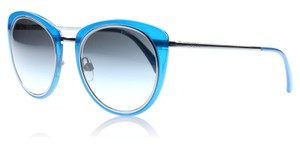 Chanel New Chanel 4202 Blue & Gunmetal Signature Rounded Cat Eye Sunglasses