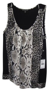Adrianna Papell Top Black/ivory