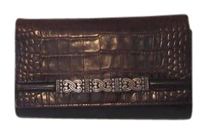 Brighton Black and brown croc/gator Clutch