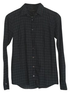 J.Crew Button Down Shirt Navy / Green