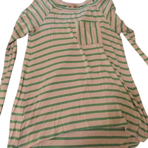 Urban Outfitters Top green and grey stripes