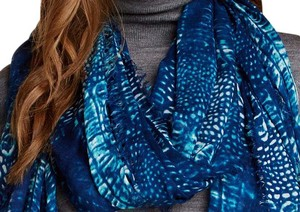 Blue Pacific Blue Pacific Ostrich Cashmere and Silk Scarf ~NEW