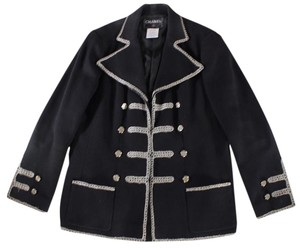 Chanel Vintage Rope Trim Military Jacket
