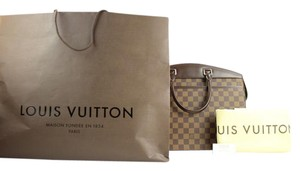 Louis Vuitton Special Order Custom Made Limited Edition Rare Discontinued Satchel in Damier Ebene