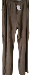 Nora Attalai Paris Wide Leg Pants Greenish brown