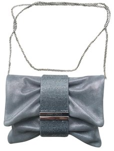 Jimmy Choo Silver Metallic Clutch