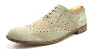 John Varvatos Men's Shoes Suede & Canvas Wingtip Oxfords Size