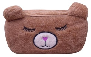 Betsey Johnson LUV BETSEY JOHNSON Cosmetic Make-up Bag FUZZY SLEEPY BEAR
