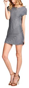 Nabisplace Pleats Issey Miyake Mini Grey Dress