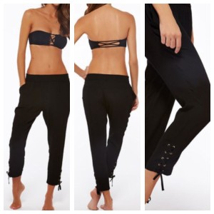 L*Space Swimwear Lounge Pants Swim Capris Black