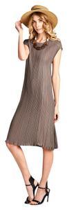 Brown Maxi Dress by Nabisplace Issey Miyake Pleats Maxi