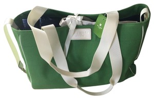 Kate Spade Green & Beige Diaper Bag