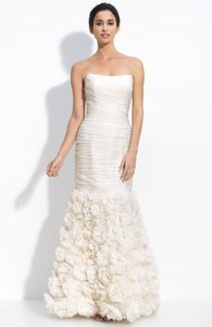 Theia 890092 Strapless Rosette Gown Wedding Dress