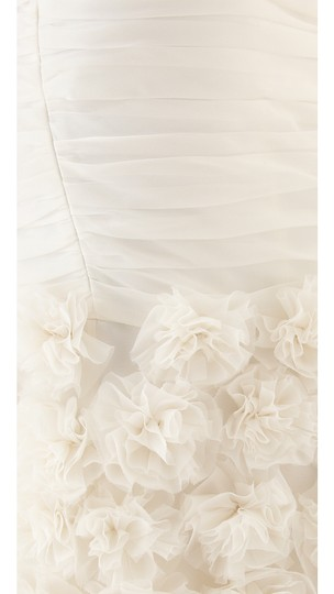 Theia Ivory Silk 890092 Strapless Rosette Gown Feminine Wedding Dress Size 4 (S) Image 11
